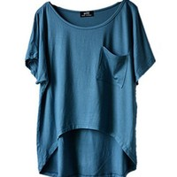 Blue High Low Style T-shirt