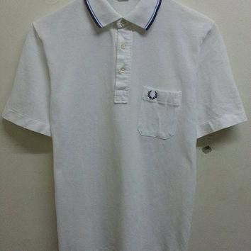 Vintage 1970s 80s FRED PERRY Mods Holligan Skin Head Punk Fesyen Polo Shirt