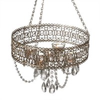 Midwest CBK Antique Champagne Beaded Tealight Chandelier