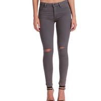 Sale-lavender Distressed Skinnies