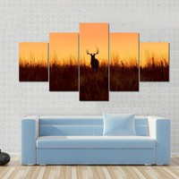 Whitetail Buck In The Sunrise Canvas