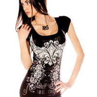 "Women's ""Slash It Up"" Tee by Folter Clothing (Black)"