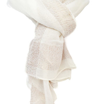 Soft Ivory/Brown Scarf