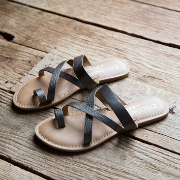 Catalina Slide on Sandal, Pewter | Coconuts By Matisse
