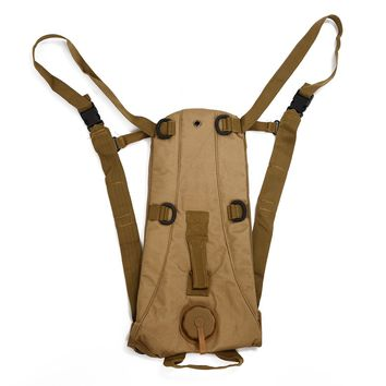 New Sale 3L Hydration System Water Bag Backpack Pouch Bladder Climbing Hikeing Survival Tan