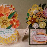 Pop-up Box Cards with Envelope, Flower Pop-up Card, Folding Card, Birthday, Anniversary, Wedding