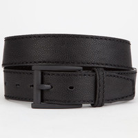 Textured Faux Leather Belt Black  In Sizes