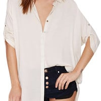 White Collar High Low Shirt