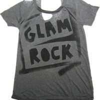 Chaser Glam Rock Deconstructed Tee in Grey