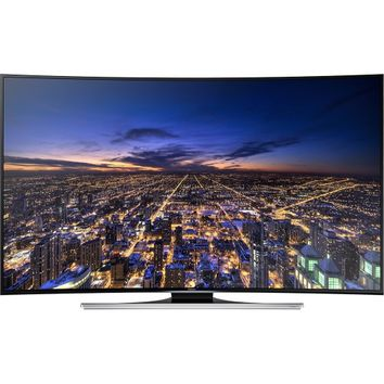 "Samsung - 55"" Class (54-5/8"" Diag.) - LED - Curved - 2160p - Smart - 3D - 4K Ultra HD TV - Black"