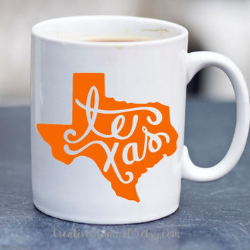 State of Texas - coffee mug - cute coffee cups - unique coffee mug - personalized coffee mug - girly mug - love coffee mug