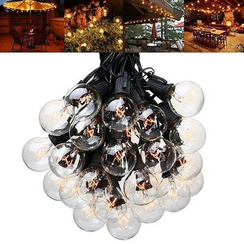 Patio Solar Powered Lights Globe Christmas String Light,3.5M 10LEDs Ball Vintage Bulb Light String Outdoor Backyard Garland Deco