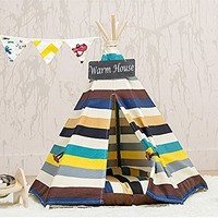 DEWEL Pet Teepee Removable Washable Dog Bed Portable Cat Tent Pet Sweet House for Dog Cat Pet (Without Cushion)