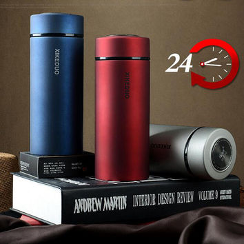 Men Office Cup 24 Hours Thermos Mug 10 Colors Fashion Thermoses Office Coffee Cup Vacuum Cup Termos Thermocup