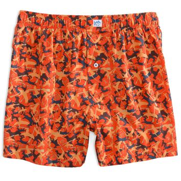 Camo Boxers in Orange by Southern Tide