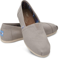 LIGHT GREY WOMEN'S CANVAS CLASSICS
