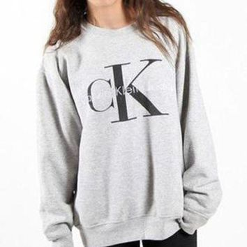 Calvin klein Jeans Fashion Casual Long Sleeve Pullover Sweatshirt Top Sweater