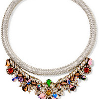 Shourouk Crystal, stone and rope necklace – 60% at THE OUTNET.COM