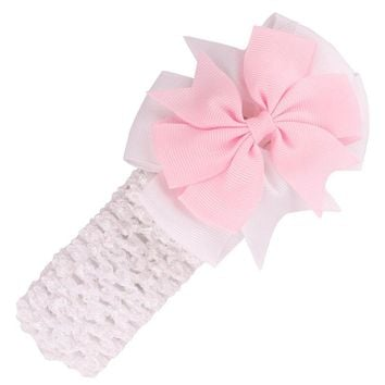 Korean Baby Girl Tiara Headbands Bow, Solid Elastic Bowknot Hair Accessories For Girls Multicolor Hair Bands
