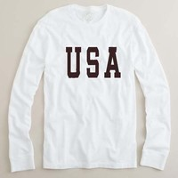 usa font adult Long sleeve T Shirt