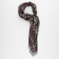 Ethnic Elephant Scarf Black One Size For Women 25621910001