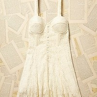 Vintage 1980s Boustier Lace Dress