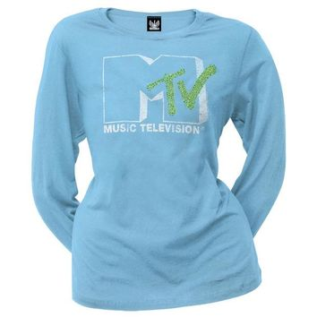 ONETOW MTV - Logo Juniors Long Sleeve T-Shirt
