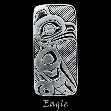 Eagle Pendant in Pewter with an Adjustable Black Cord (Style #205Z)