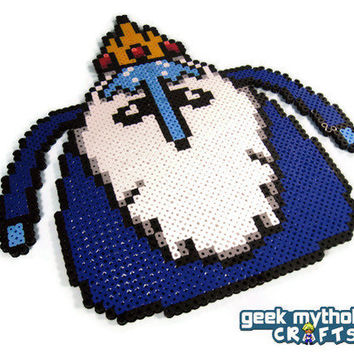 Adventure Time Ice King Custom Design Perler Bead Sprite Decoration