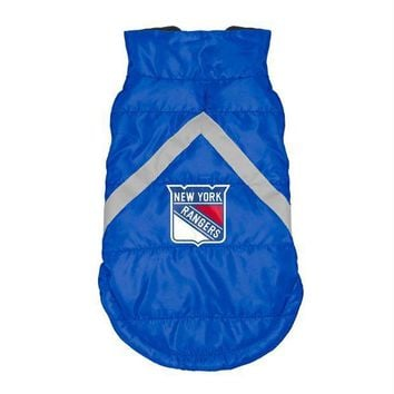 ESBONI New York Rangers Pet Puffer Vest