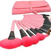 iLoveCos Makeup Brushes Make up Brushes Professional Wool Cosmetic Makeup Brush Set Kit--24 PCS