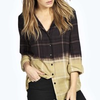 Hollie Dip Dye Checked Shirt