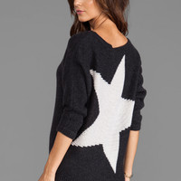 360 Sweater Randi Star Pullover in Charcoal/Ivory