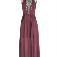 ModCloth Boho Long Sleeveless Maxi Grapes of Ravishing Dress