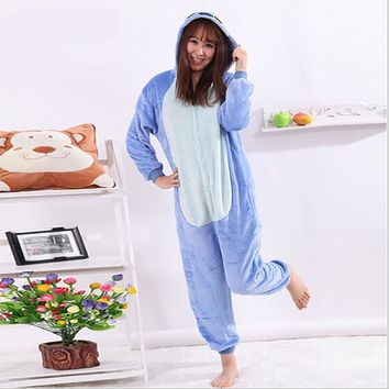 New Arrival Women's Character Pattern Footed Pyjamas For Adults Full Sleeve Sleep Lounge Onesuits Animal Pajamas One Piece