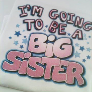 Big Sister and Little Sister Heat Pressed T Shirt, Toddler T Shirt, Sister T-shirts, Childs T Shirt,Childrens T Shirt, Going to Be a Big Sis