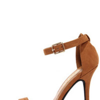 LuLu*s Elsi Tan Single Strap Heels