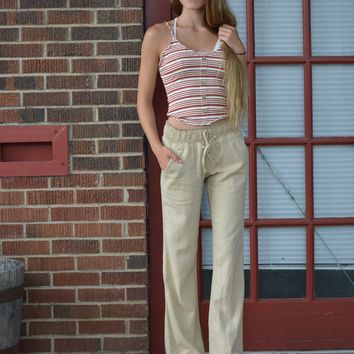 The Amelia Pant - Taupe