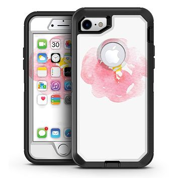 Pale Pink Watecolor  Hibiscus - iPhone 7 or 7 Plus OtterBox Defender Case Skin Decal Kit