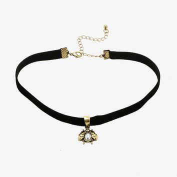 Blackheart Antique Bronze Bee Choker