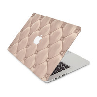 Pastel Pink Fabric Head Board Skin for the Apple MacBook