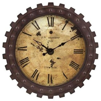 Copely Rustic Brown Finish Clock