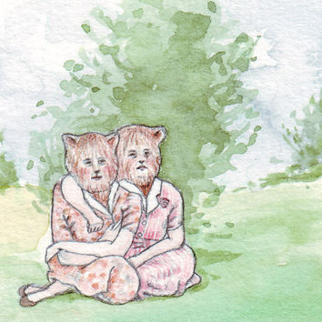 BFF (Beast Friends Forever) | Original Drawing by Marie