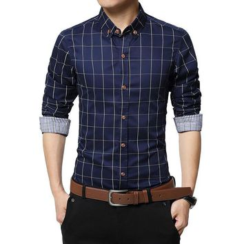Men's Casual Slim Fit Button Up