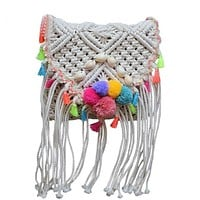 Crochet Bohemian Crossbody Shoulder Bag