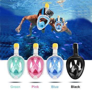 Anti-fog Snorkeling Diving Mask Anti-skid Ring Snorkel Scuba GoPro Camera Snorkel Masks Underwater