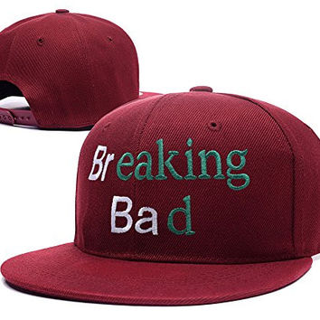 YUDUODUO Breaking Bad Logo Adjustable Snapback Embroidery Hats Caps - Red