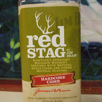 20 Ounce Pure Soy Candle in a Jim Beam Red Stag Hardcore Cider 750ml Glass bottle upcycled bottle Man cave bar decor - Your Choice of Scent