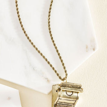 Stenography-Spirited Necklace | Mod Retro Vintage Necklaces | ModCloth.com