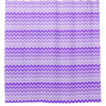 Purple Ombre Chevron Shower Curtain